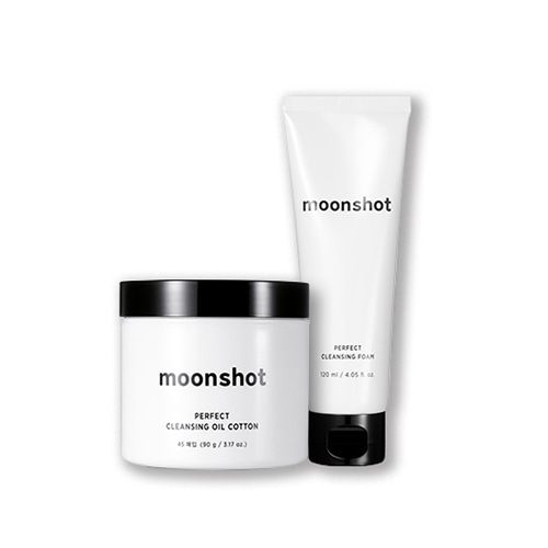 moonshot Perfect Cleansing Foam 120ml + Perfect Cleansing Oil Cotton 45ea
